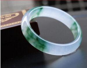 Size: 56-62mm Beautiful Quartzite Emerald Jade Gemstone Bracelet Bangle Free Box