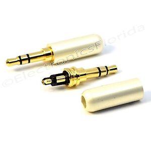 3.5mm 3 Pole Male Repair headphone Jack Plug Metal Audio Soldering