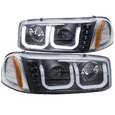 Anzo 111303 Black Projector U-Bar Headlights for 2000-2006 GMC Sierra Yukon