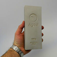 1 Kg 1000 Gramm Agosi Aluminium Aluminum Alu 995 Barren Eingeschweißt Top
