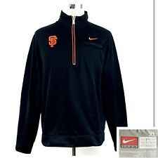 Nike Men's San Francisco Giants 1/4 Zip Pullover Sweatshirt Black Orange Sz Xl