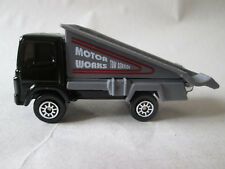 1998 Maisto 1:64 black Motor Works Towing Service Flat Bed Ramp Tow Truck (Mint)
