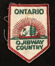 OJIBWAY (Ojibwe) COUNTRY ONTARIO Vintage Souvenir Patch CANADA Travel Hiking