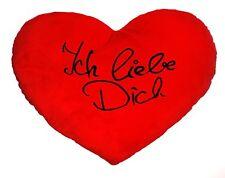 Herzkissen XXL  Ich liebe Dich   60cm  Kissen  Herz kissen XL groß Plüsch rot