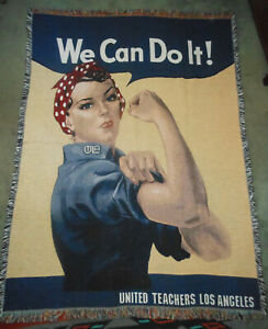 PURE COUNTRY WEAVERS ROSIE THE RIVETER UNITED TEACHERS LOS ANGELES THROW 72X54
