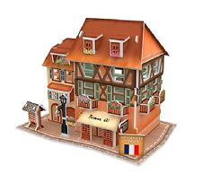 Diy Paper House 3D Stereo Architecture French Store Solid puzzle Model House