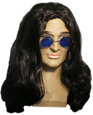 1960's-1970's-HIPPY-ROCKER-Dracula-Ozzy-Wig & Spectacles Set-Costume Accessory