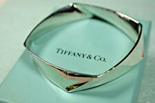 Tiffany & Co GehryTorque Bangle Cuff Bracelet Sterling Silver - w/ Pouch 7.5""