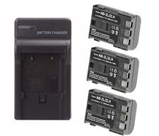 3 Pack NB-2LH Battery + Charger for Canon Rebel XTi EOS 350D 400D G7 G9 1800mAh