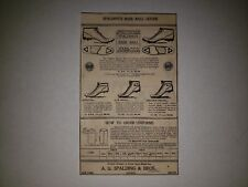 Spalding Baseball Shoes Cleats 1900 Advertisement Ad RARE!