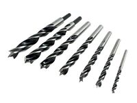 Colt and Riss TwinLand 7 Piece Brad Point Drill Bit Set with 1/8 to 1/2 by 8th