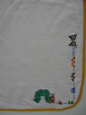 Carters Very Hungry Caterpillar Eric Carle  Baby Receiving Blanket White Lovey