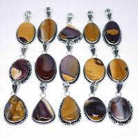 Hot Sale Lot !! Natural Peanut Wood Jasper Gemstone Silver Plated Pendants