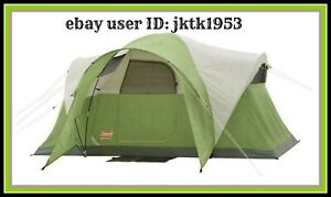 """Coleman Montana  6 Person Tent 12' x 7' with 5'8"""" Center Hooded Awning Door"""