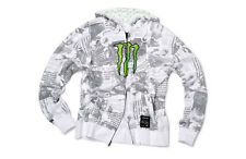 Monster Energy Head Lines Hooded Sweater White # L
