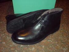 CLARKS hommes shapewick Manoir doublure 58% laine Bottes en cuir noir UK 7