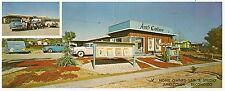 1950's AMES COLOR PHOTOGRAPHY STUDIO Escondido CA PANORAMIC Photo Adv PC 2 View