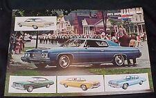 1973 Chevrolet Impala & Bel Air Original Dealership Advertising Sheet Sedan