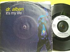 """7"""" VINYL SINGLE. It's My Life by dr. alban. 1992. Arista Records. 115 330."""