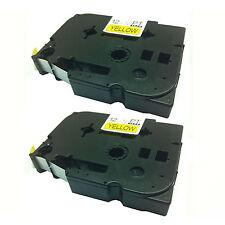 2x hermano compatible Tz631 Black/yellow 12mm Cinta Para P-touch pt-1000bm Pt-1010