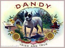 Dandy Boston Terrier Puppy Dog Vintage Tobacco Cigar Box Crate Label Art Print