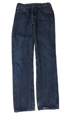 Levi's 501XX Men's Dark Blue Button Fly Straight Leg Denim Jeans Size 31 X 34