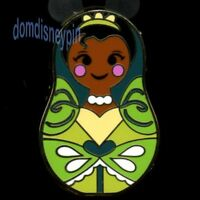 Disney Pin *Nesting Dolls* w/ Icons Mystery Series - Tiana w/ Green Lily Dress!