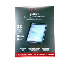 ZAGG INVISIBLE SHIELD FOR IPAD 9.7 2018 2017 PRO 2016 AIR 2 1 GLASS+ 200101105