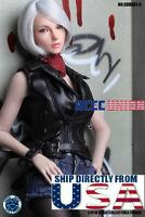 "SUPERDUCK 1/6 Female MOVABLE EYES Head Sculpt SDDX01 C For 12"" TBL PALE Figure"