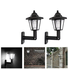 Retro Solar Powered LED Lights Garden Outdoor Landscape Fence Walkway Wall Lamp