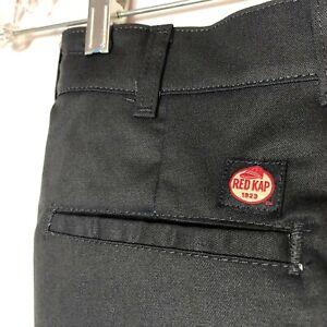 Red Kap Dura-Kap Men's Industrial Work Pants, Black