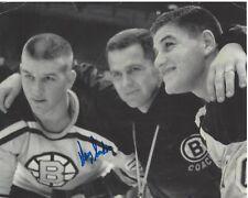BOSTON BRUINS HARRY SINDEN HAND SIGNED 8x10 PHOTO C w/COA STANLEY CUP CHAMPION