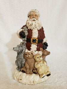 ADORABLE! SANTA AND FRIENDS PLASTER MOLD.