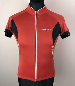Craft L1 Ventilation Cycling Jersey Men's Size L Full-Zip Short Sleeve Red Shirt