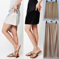 Women's Mini Half Slip Petticoat intimate Lingerie Polyester Skirt Slip Size M L