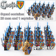 21pcs/Lot Roman Medieval Pikeman Castle Knights Building Blocks Toys