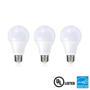 3-Pack 5W E27 Warm White A19 LED Light Bulbs 110V Equivalent 60W