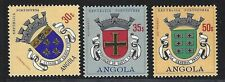 1963 Angola Scott #486-488 - Coats of Arms - 3 High Values - MH
