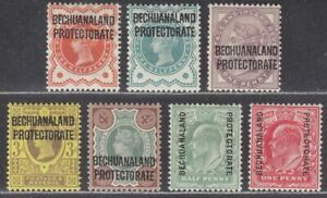 Bechuanaland Protectorate 1897-1908 QV-KEVII Overprint Selection to 4d Mint
