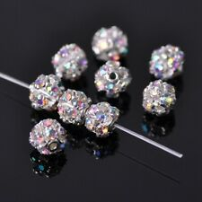 20pcs 6mm Round ClearAB Crystal Rhinestone Loose Beads Findings Jewelry Making