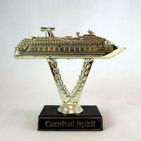 Vintage CARNIVAL SPIRIT Cruise Ship Gold Trophy Promotional Travel Souvenir