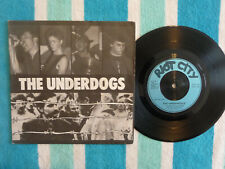 """UNDERDOGS East Of Dachau 45 rpm 7"""" EP w/ PICTURE SLEEVE Riot City 1983 UK Punk"""