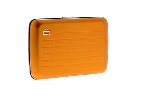 Ogon Designs Stockholm V2 Aluminum Wallet. ORANGE NEW from France