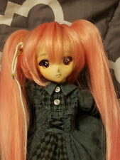BJD Yo-SD (6-7in) Wig Pink Short Style with Long Clip-On Ponytails