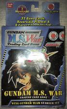 Gundam M.S. War Trading Card Game Wing Gundam Team Starter Set SEALED!