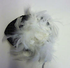 Ladies Black Sequin Hat And Feather Victorian Fancy Dress