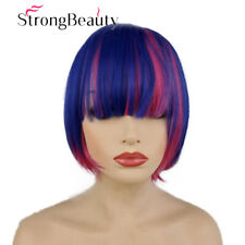 Women's Short Synthetic Hair Bob Wigs For Cosplay Party Light Blue/Pink Hair Wig