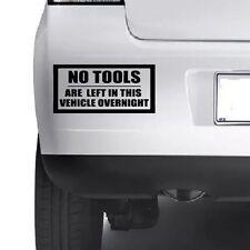 Ningunas herramientas izquierda en este vehículo durante la noche coche divertido van signo Decal Sticker Jdm