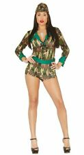 Womens Sexy Military Army Camouflage Fancy Dress Costume Hen Party Outfit Ladies