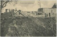Soldiers Mine Crater Strongpoint German WW1 Postcard (354)